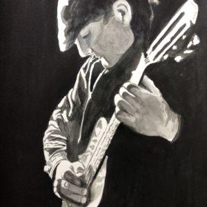 Guitarist B&W
