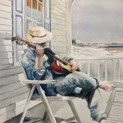 Strumming on the Front Porch